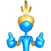 170x170 Man Thumbs Up Cartoon Character Stock Illustrations