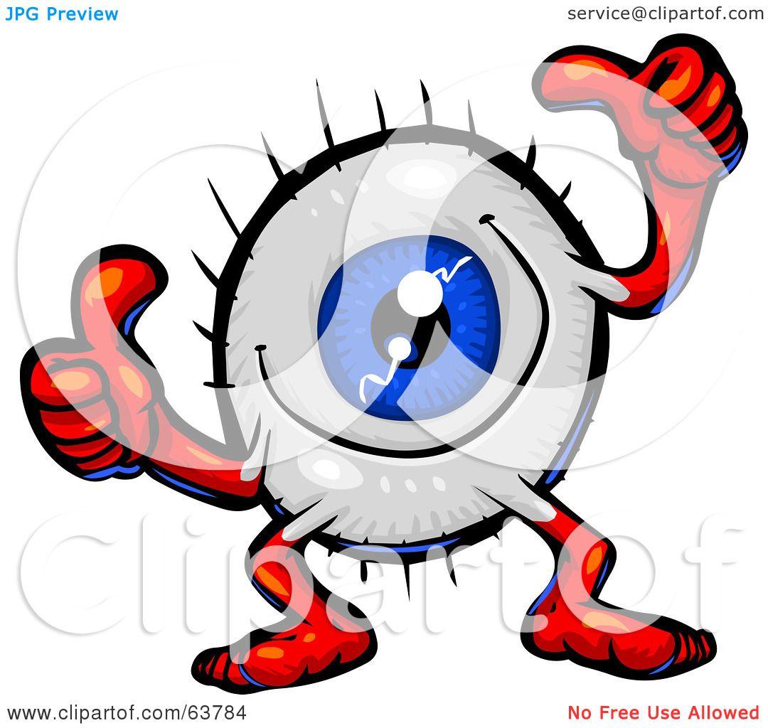 1080x1024 Royalty Free (Rf) Clipart Illustration Of A Blue Eyeball Guy