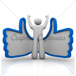 325x325 Thumbs Up Double Like Icon Likes Gl Stock Images