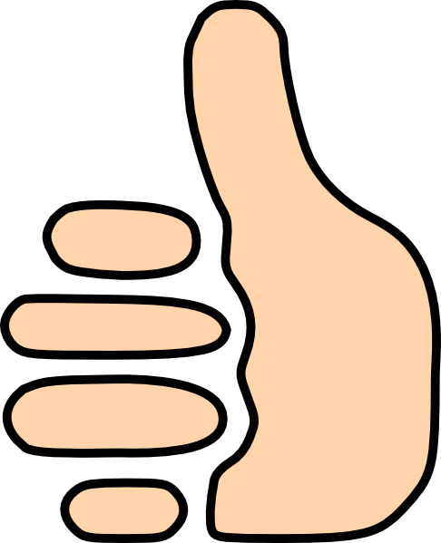 486x599 Two Thumbs Up Clip Art