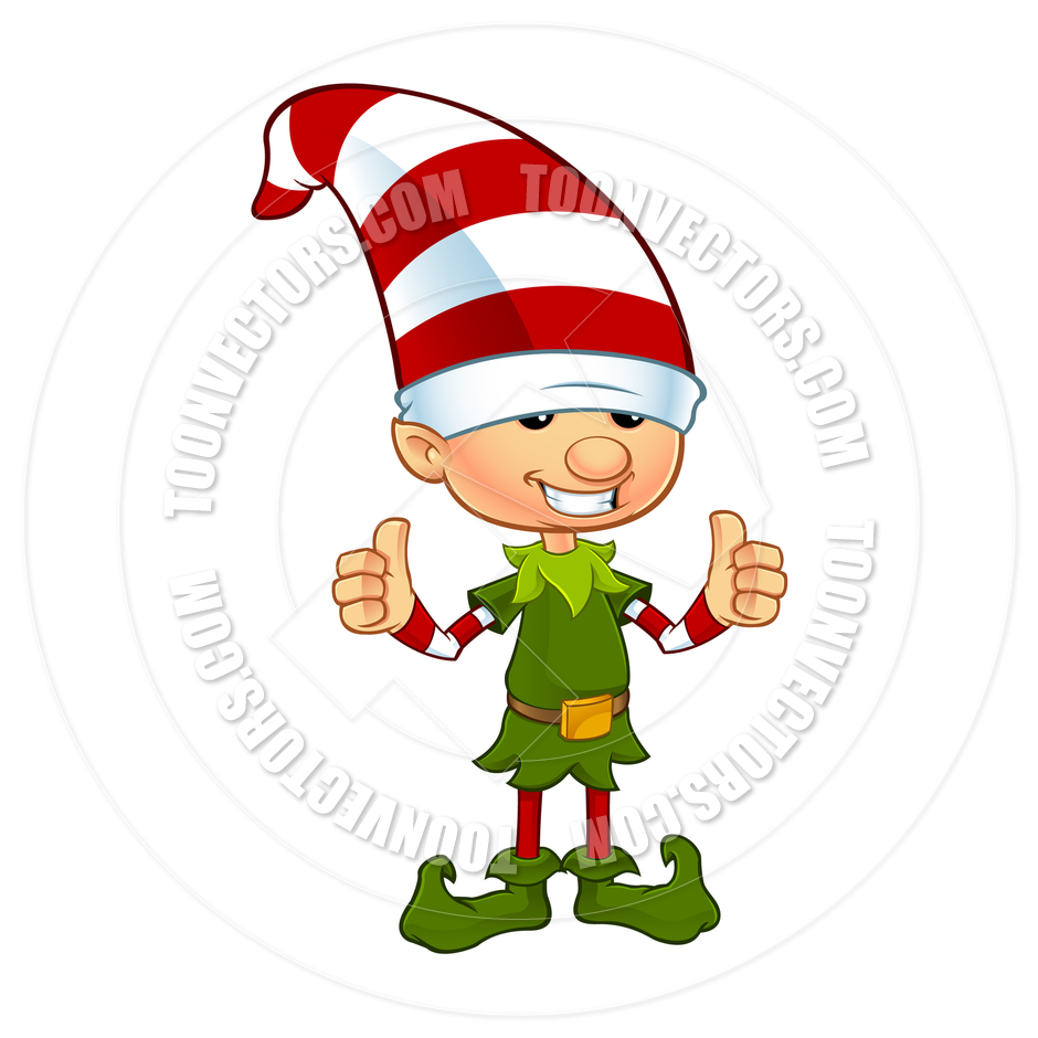 940x940 Cartoon Cute Christmas Elf Character Two Thumbs Up By Designwolf