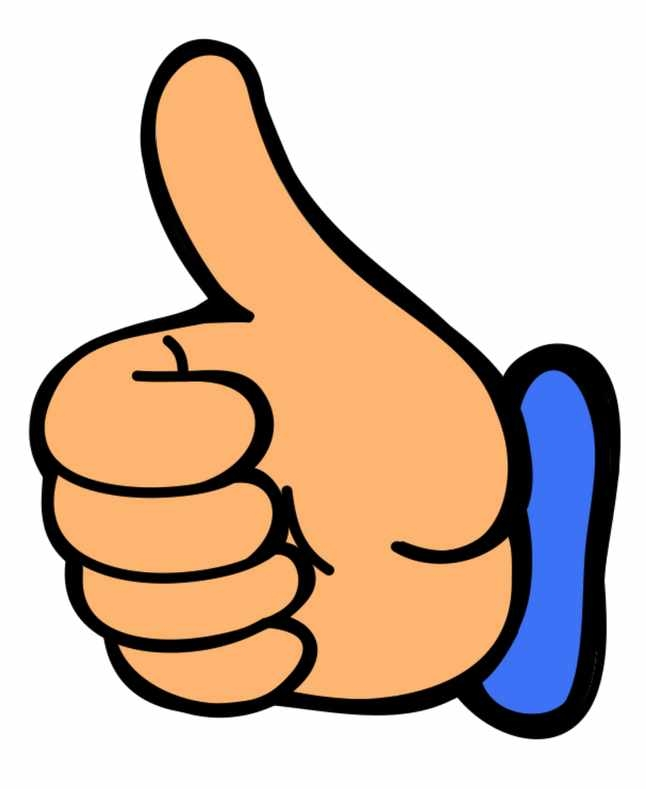 646x789 Free Clipart Two Thumbs Up