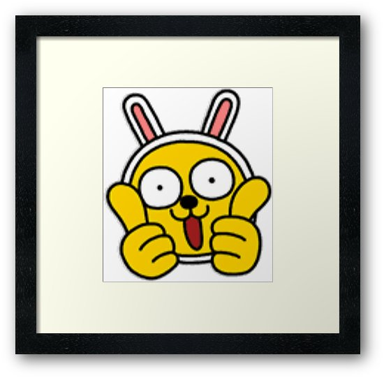 550x541 Kakaotalk Friends Muzi (Two Thumbs Up) Framed Prints By