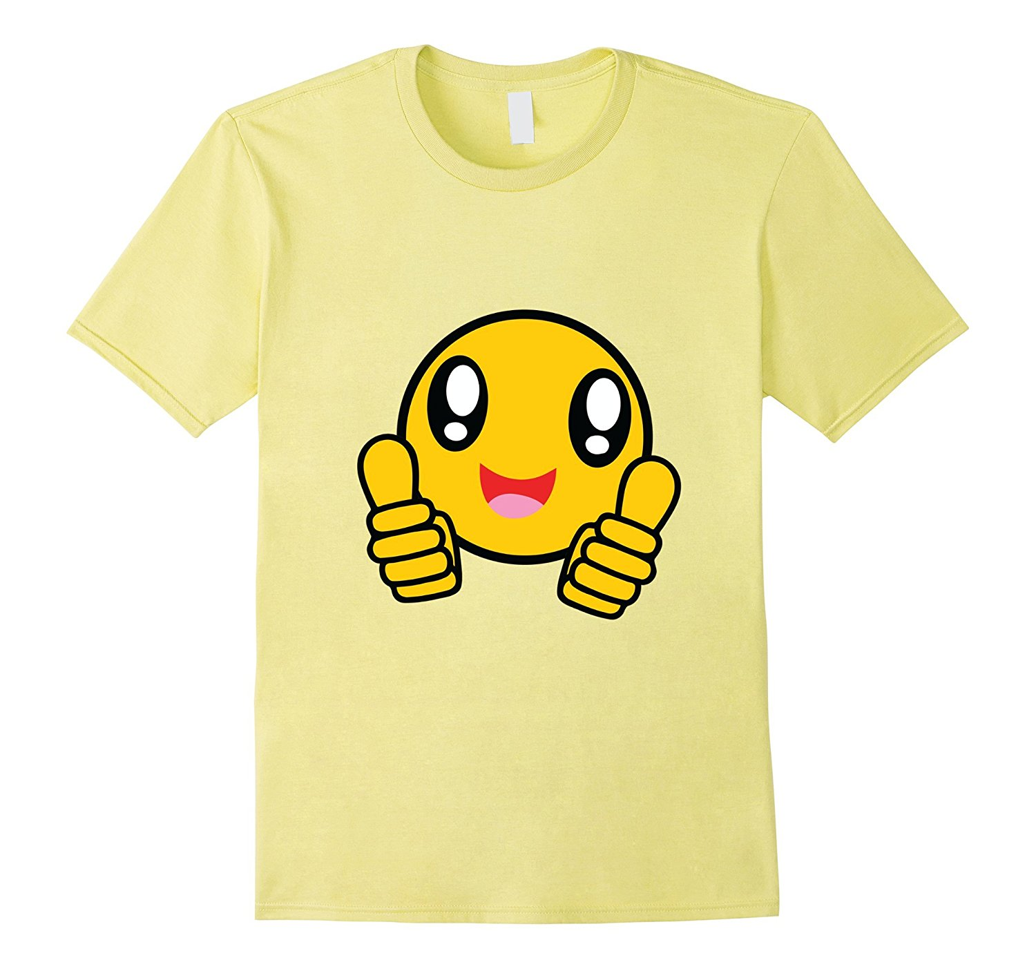1500x1403 Two Thumbs Up Hands Emoji T Shirt Happy Smile Big Eyes Top