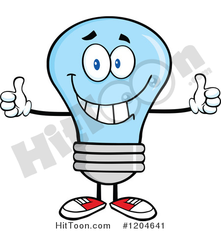 450x470 Blue Light Bulb Clipart