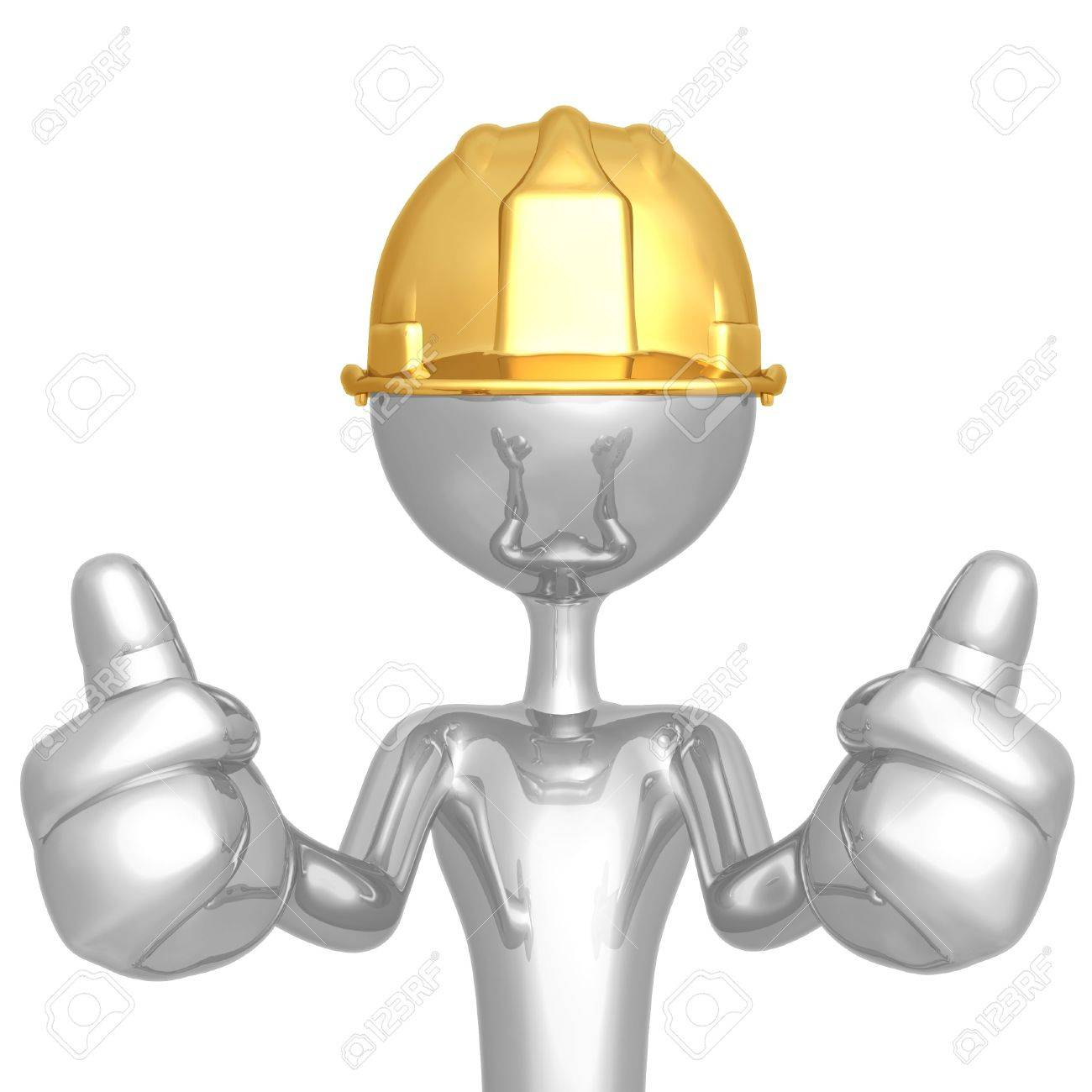 1300x1300 Construction Worker Two Thumbs Up Stock Photo, Picture And Royalty