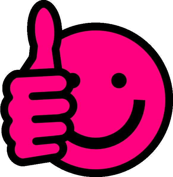 582x596 Hot Pink Thumbs Up Clip Art