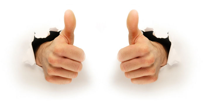 694x346 Two Thumbs Up Clipart