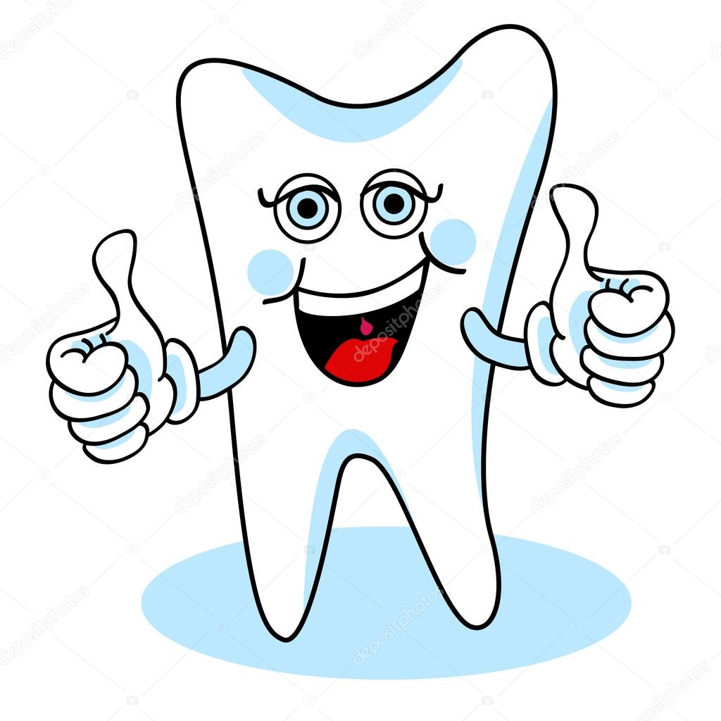 1024x1024 Two Thumbs Up Cartoon Tooth Stock Vector Mirage3