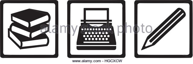 640x214 Writer Tools Book Typewriter Pen Stock Photos Amp Writer Tools Book