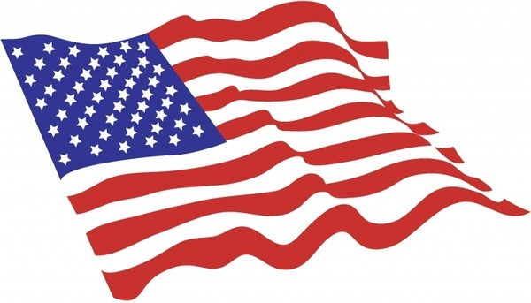 600x343 Us Flag American Flag Clip Art Free Vector Download