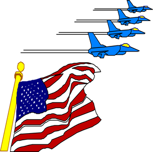 300x298 American Flag Clipart