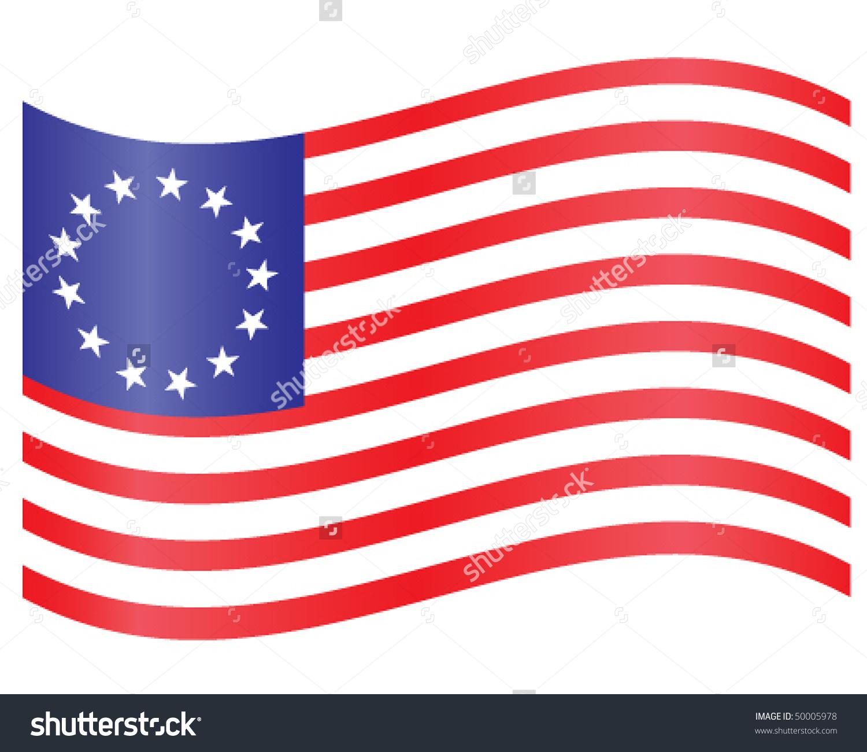 1500x1300 American Flag Clipart Colonial