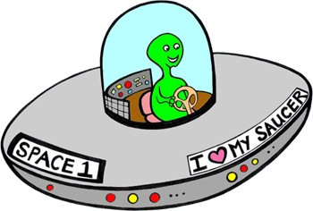 350x236 Flying Saucer Clipart