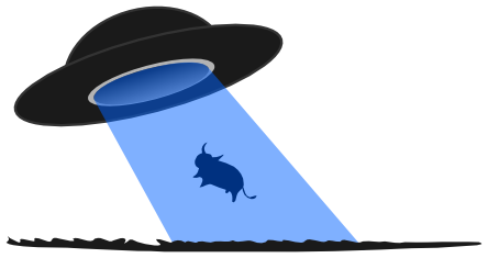 444x235 Free Cow Abduction By Ufo Clip Art