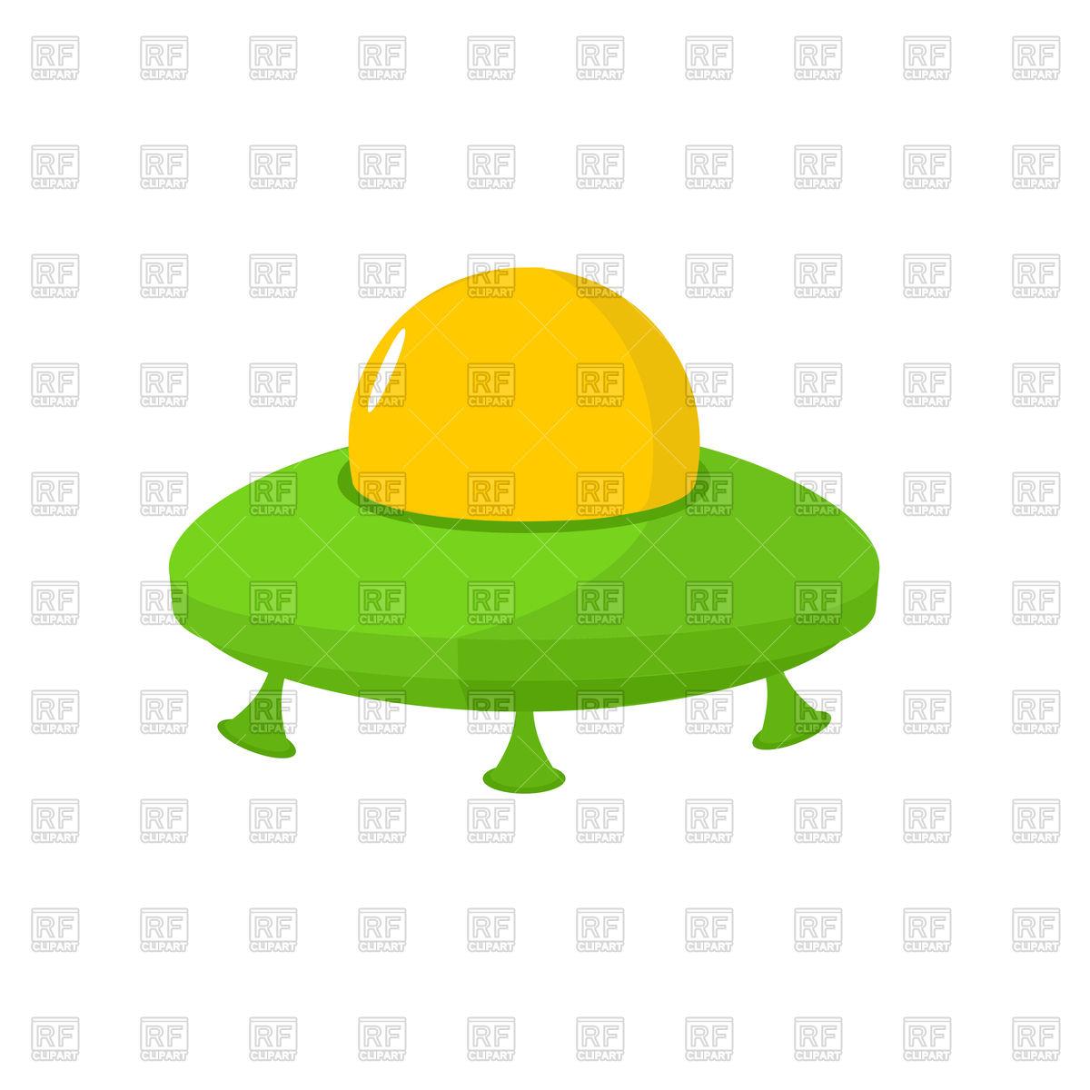 1200x1200 Cartoon Ufo Isolated Royalty Free Vector Clip Art Image