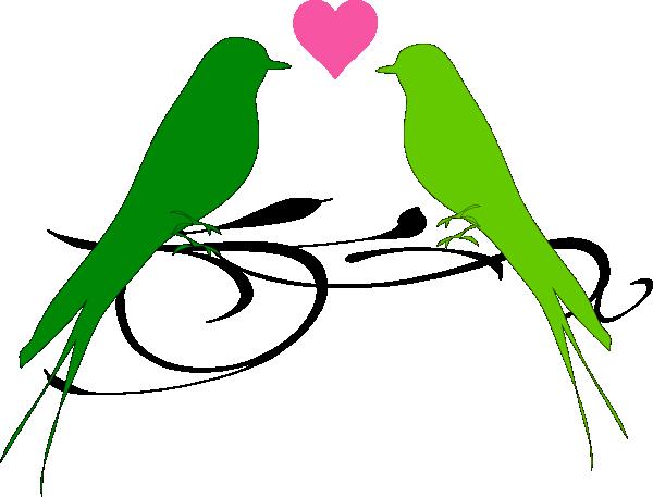 600x457 Love Birds Clipart