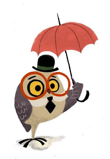 356x512 Owl Clipart Rain