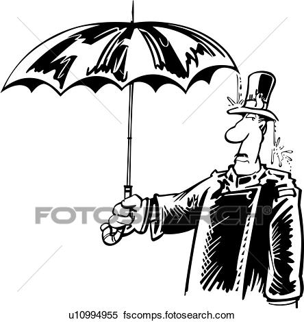 444x470 Clipart Of , Umbrella, Cartoon, Doorman, Hotel, Work, Cartoons