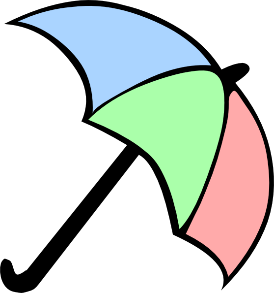 558x595 Colorful Cartoon Umbrella Clip Art