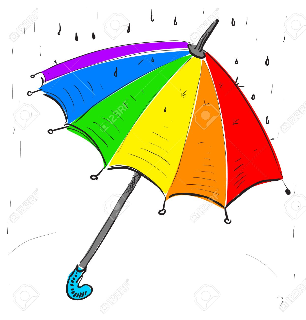 1244x1300 Drawn Umbrella Cartoon