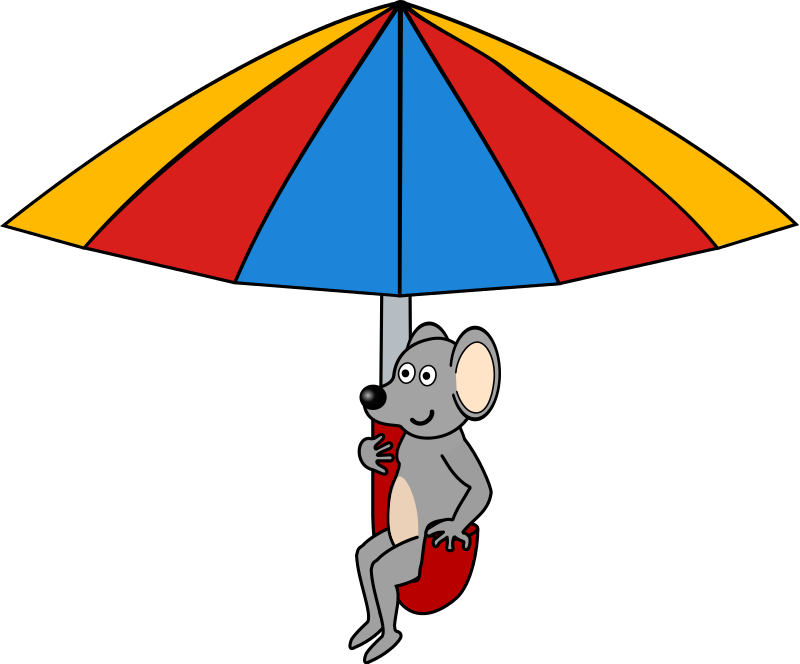 800x664 Free Mouse Riding An Umbrella Clip Art