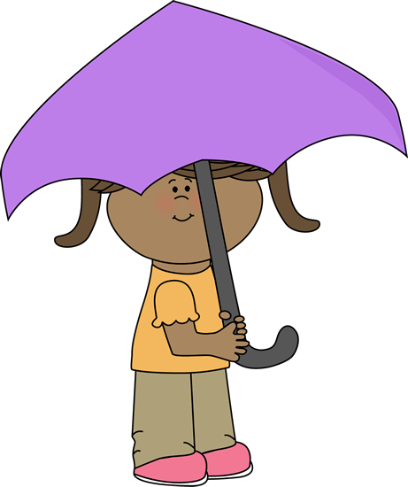 461x550 Girl Under Umbrella Clip Art