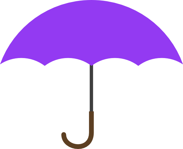 600x490 Purple Umbrella Clip Art