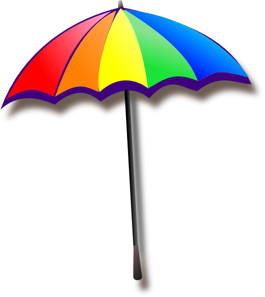 534x598 Rainbow Umbrella Clip Art