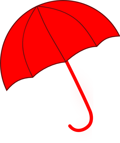 504x600 Red Umbrella Clip Art