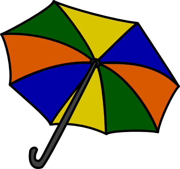 600x563 Umbrella Clip Art