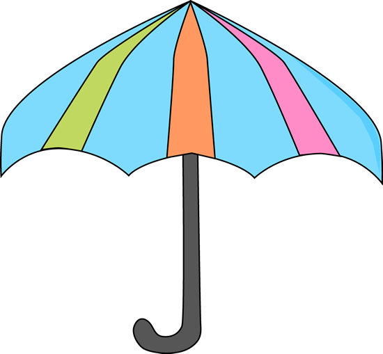 550x509 Colorful Umbrella Clipart