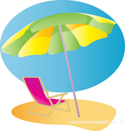 477x500 Clip Art Beach Umbrella And Chair Clipart