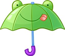 209x179 Green Umbrella Clipart