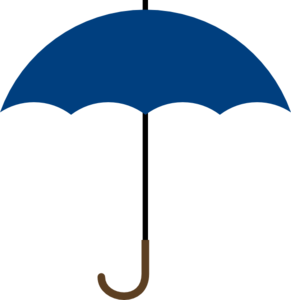 291x300 Navy Blue Umbrella Clip Art