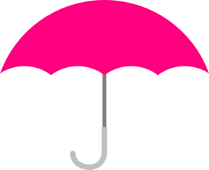 298x243 Pink Umbrella Clip Art