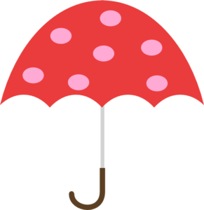 291x300 Polka Dot Umbrella Clip Art