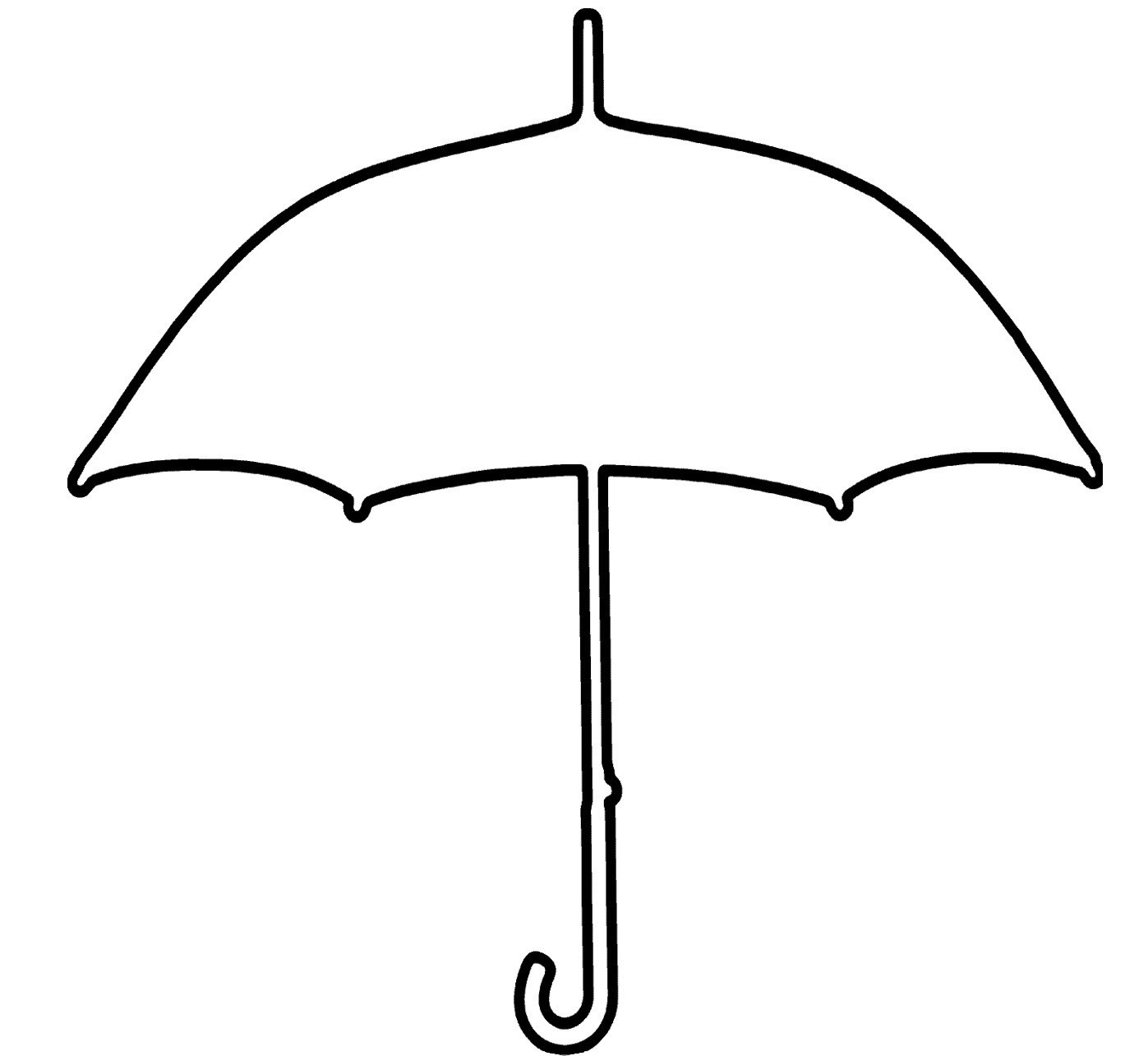 1397x1285 Umbrella Black And White Photos Of Umbrella Outline Clip Art