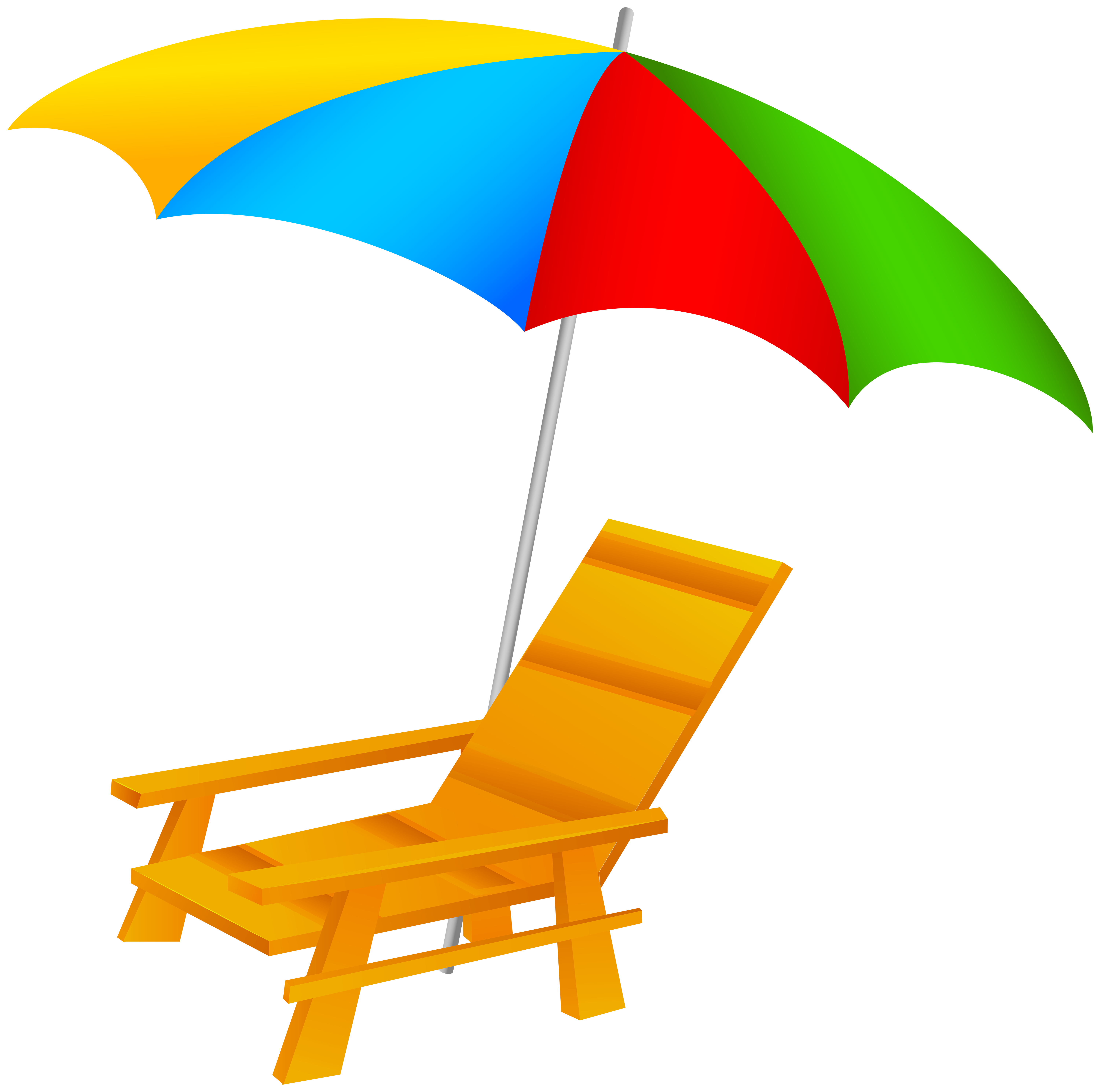 6000x5958 Beach Umbrella And Chair Png Clip Art