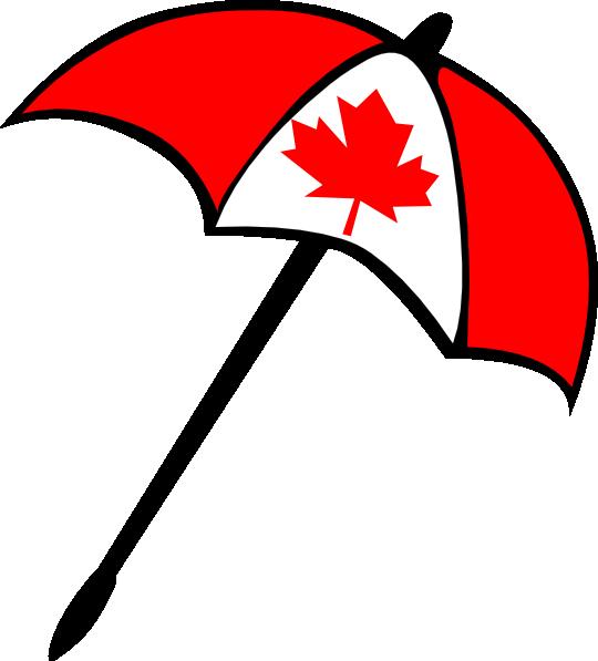 540x597 Canada Flag Umbrella Clip Art