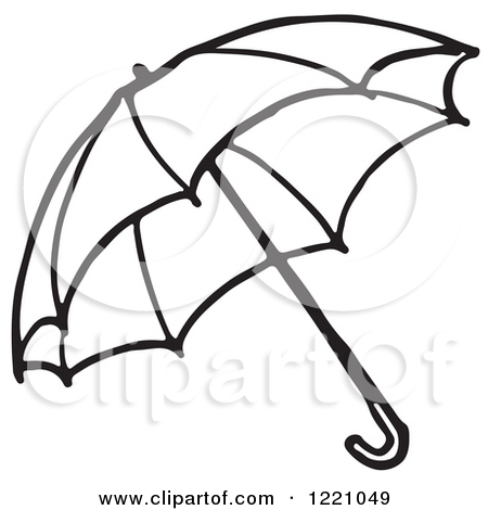 450x470 Clipart Of A Black And White Umbrella Royalty Free Vector Id 80
