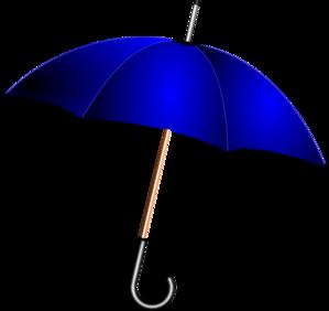 299x282 Open Blue Umbrella Clip Art