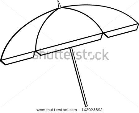 450x367 Umbrella Outline Clipart