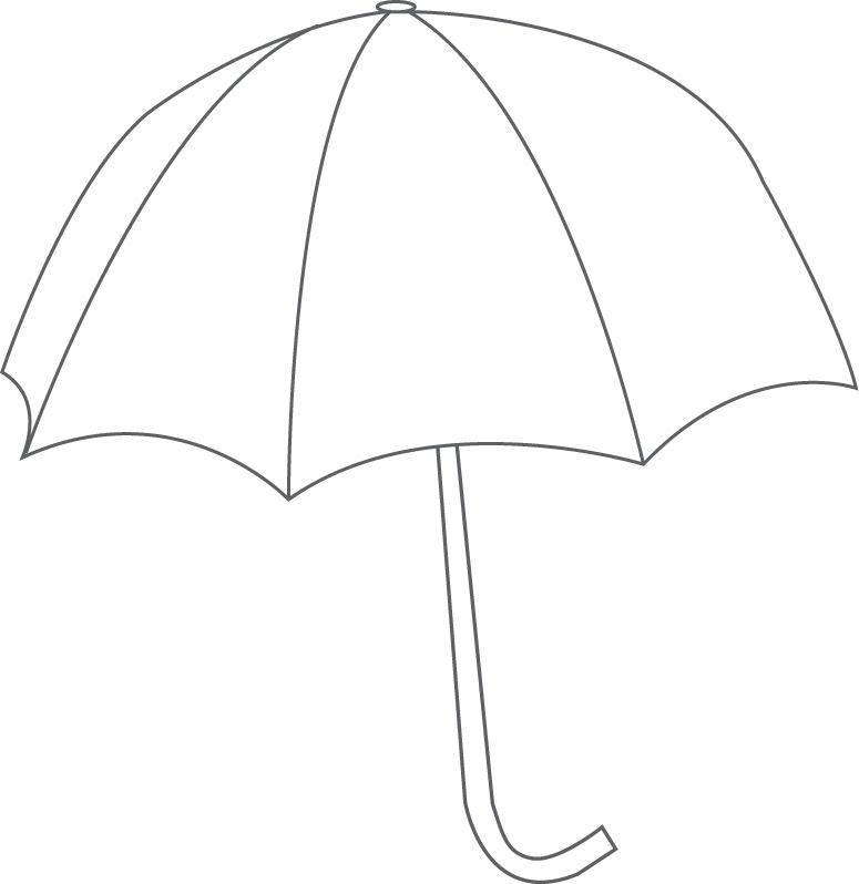 775x798 Printable Umbrella Template Printable Umbrella Template Free