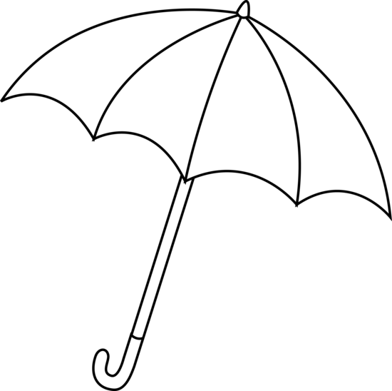550x548 Black And White Umbrella Lineart