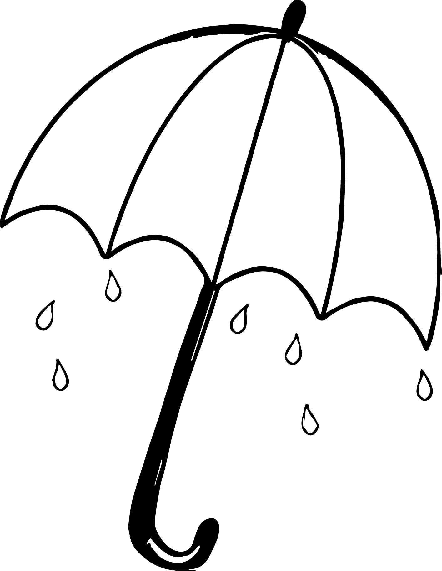 umbrella coloring page  free download on clipartmag