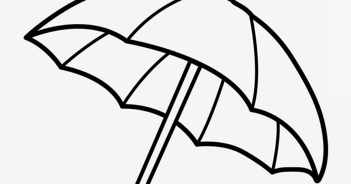 Umbrella Coloring Page Free download