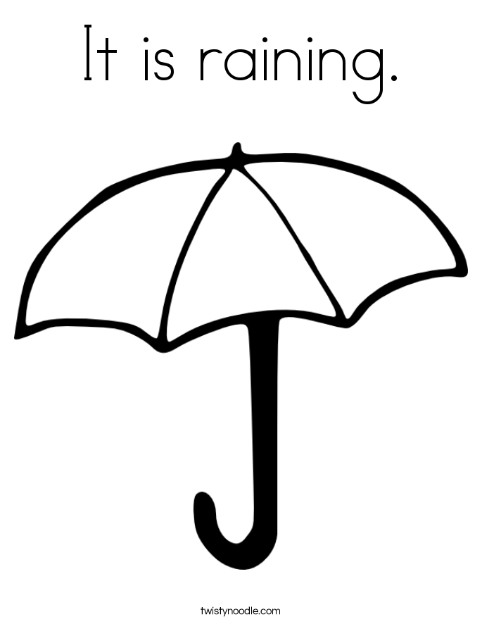 685x886 It Is Raining Coloring Page