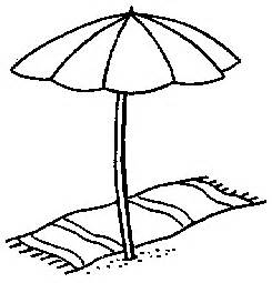 245x255 Drawn Umbrella Beach Umbrella