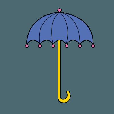 400x400 How To Draw Umbrella